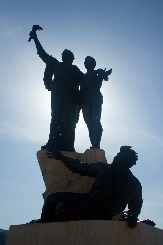 Statue in Beirut's Place des Martyr