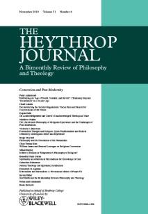 The Heythrop Journal